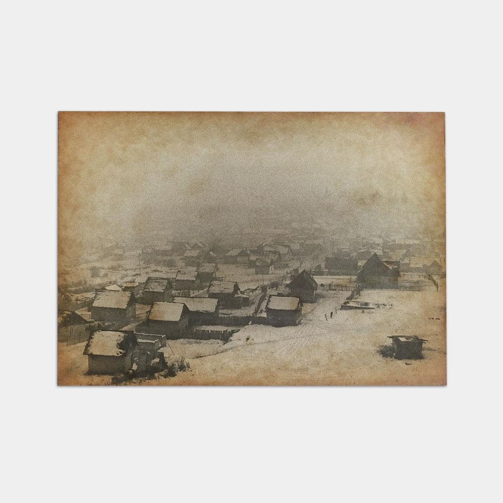 ジプシーの居住区の冬の写真(正面)